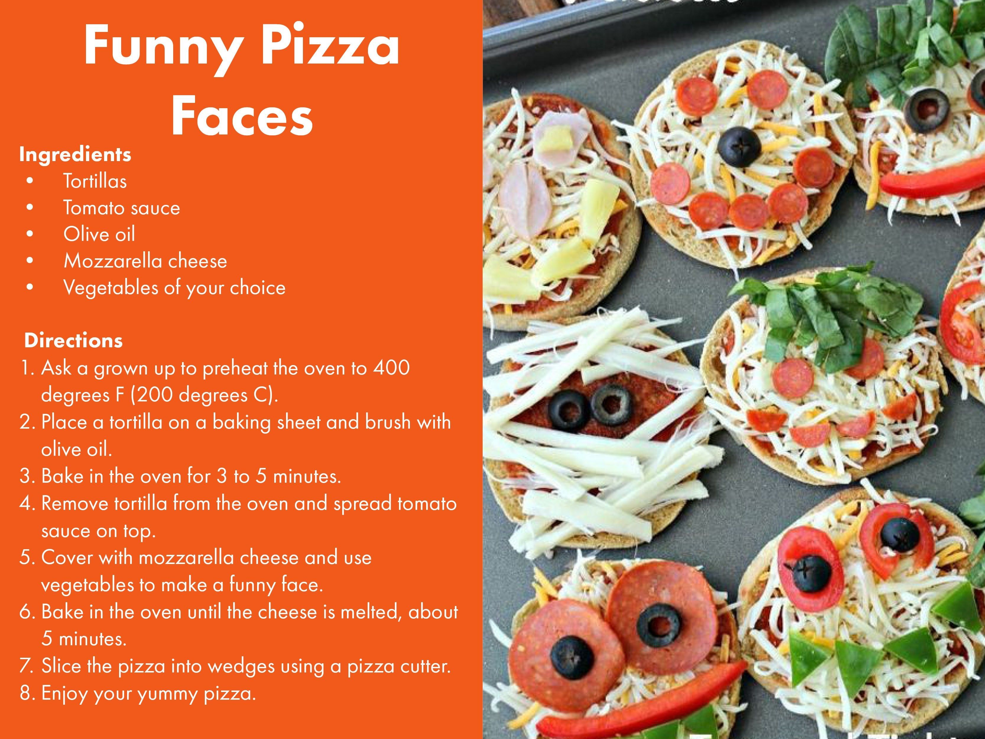 Funny Pizza Faces