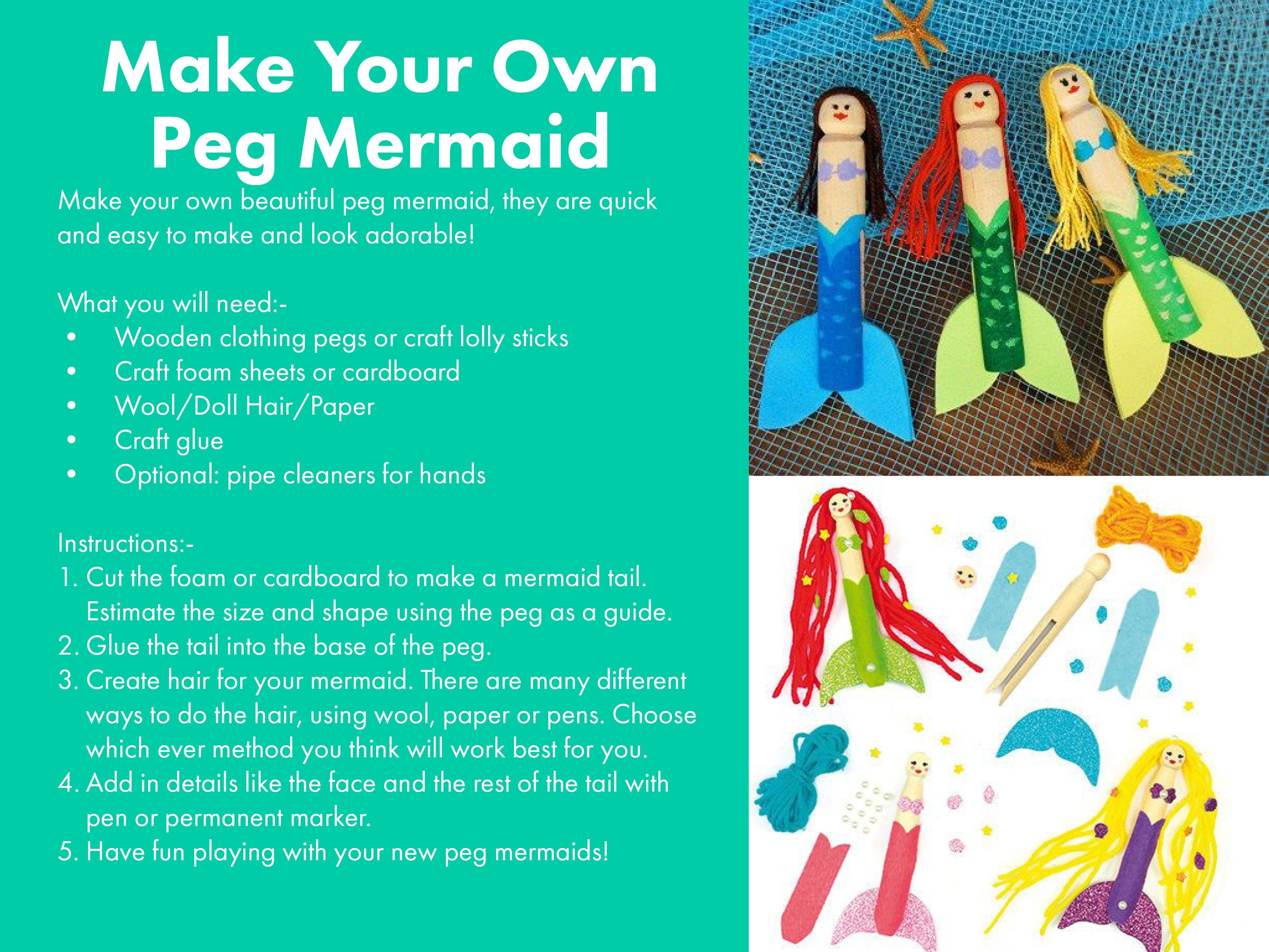 Make Your Own Peg Mermaid