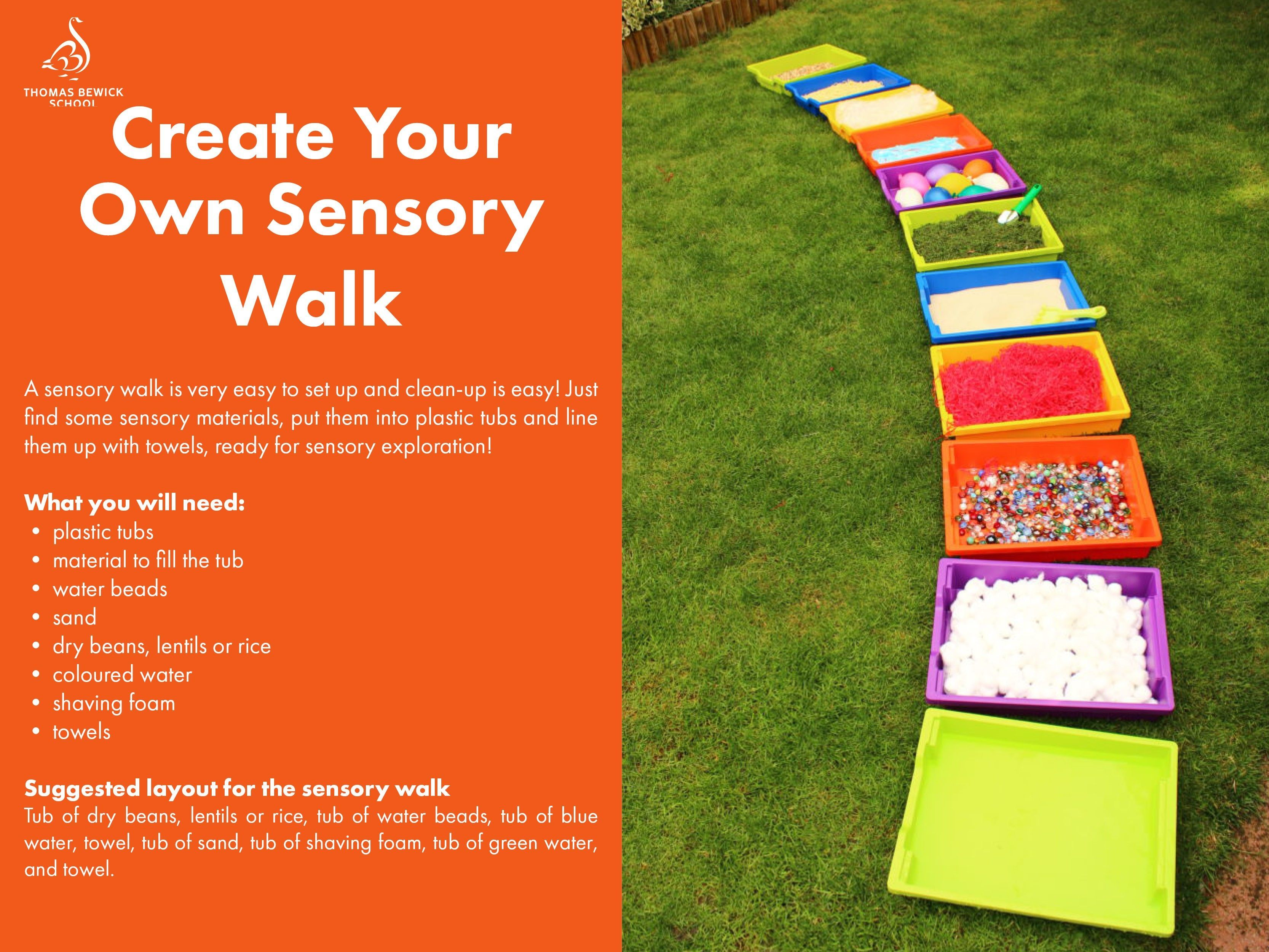 Create Your Own Sensory Walk