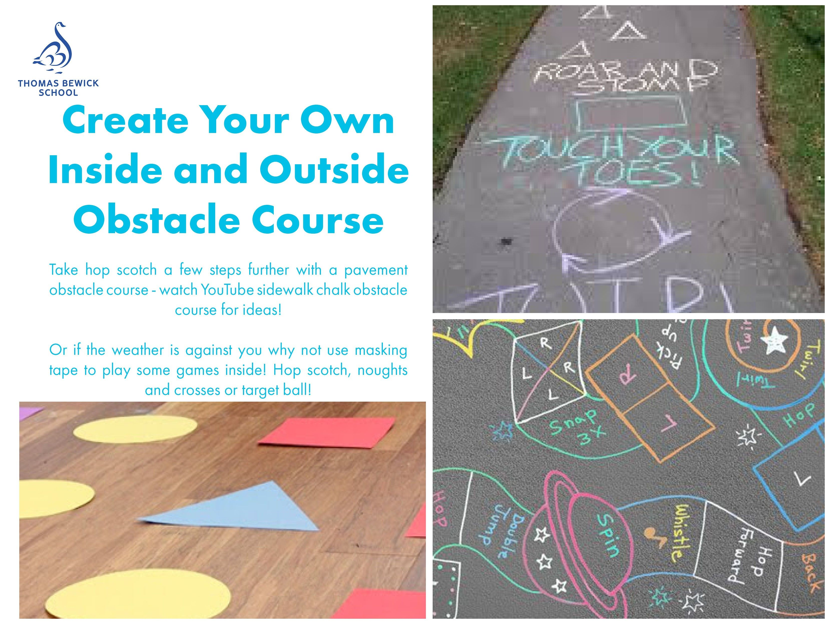 Create Your Own Inside and Outside Obstacle Course