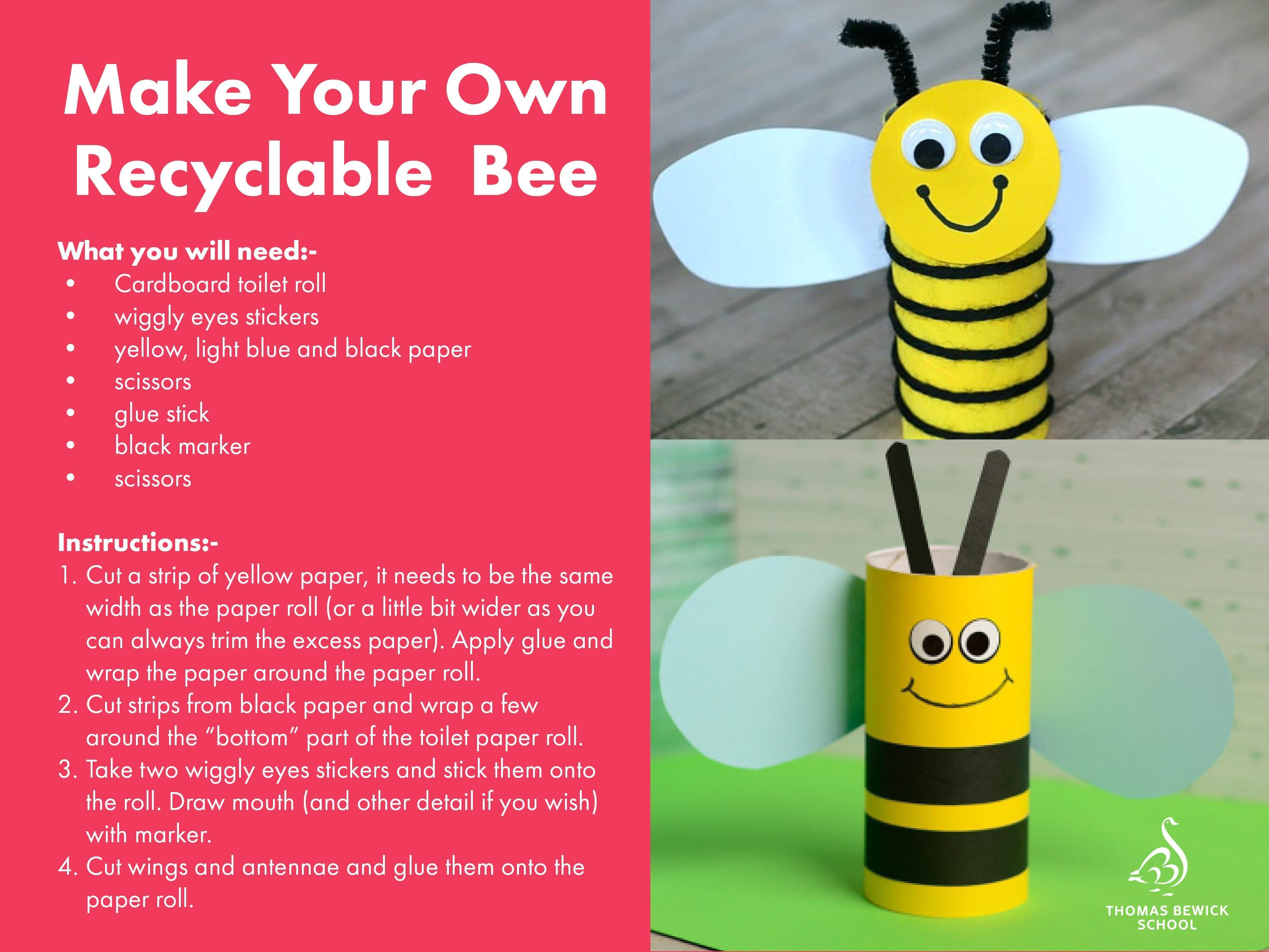Make Your Own Recyclable Bee