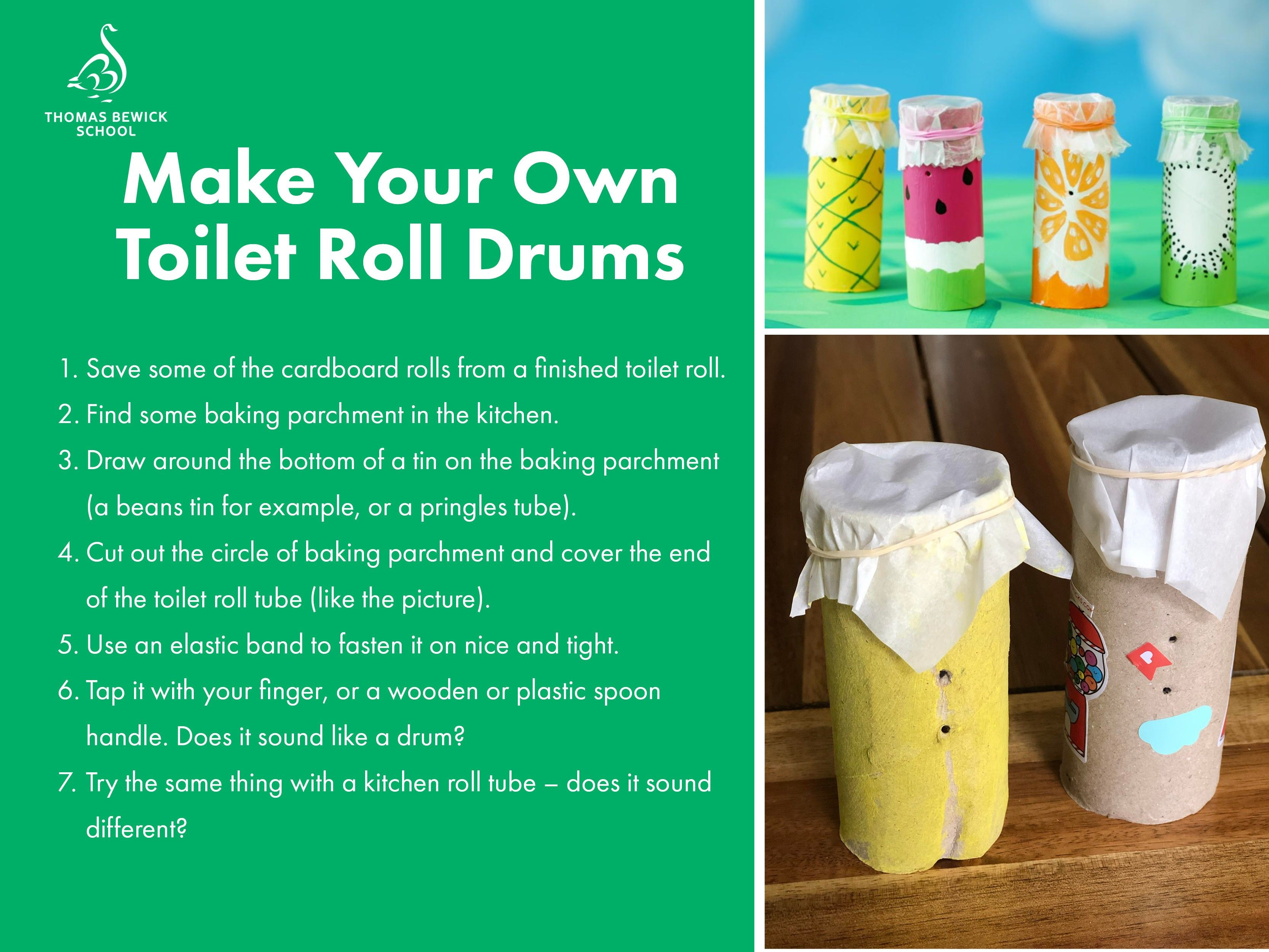 Make Your Own Toilet Roll Drums