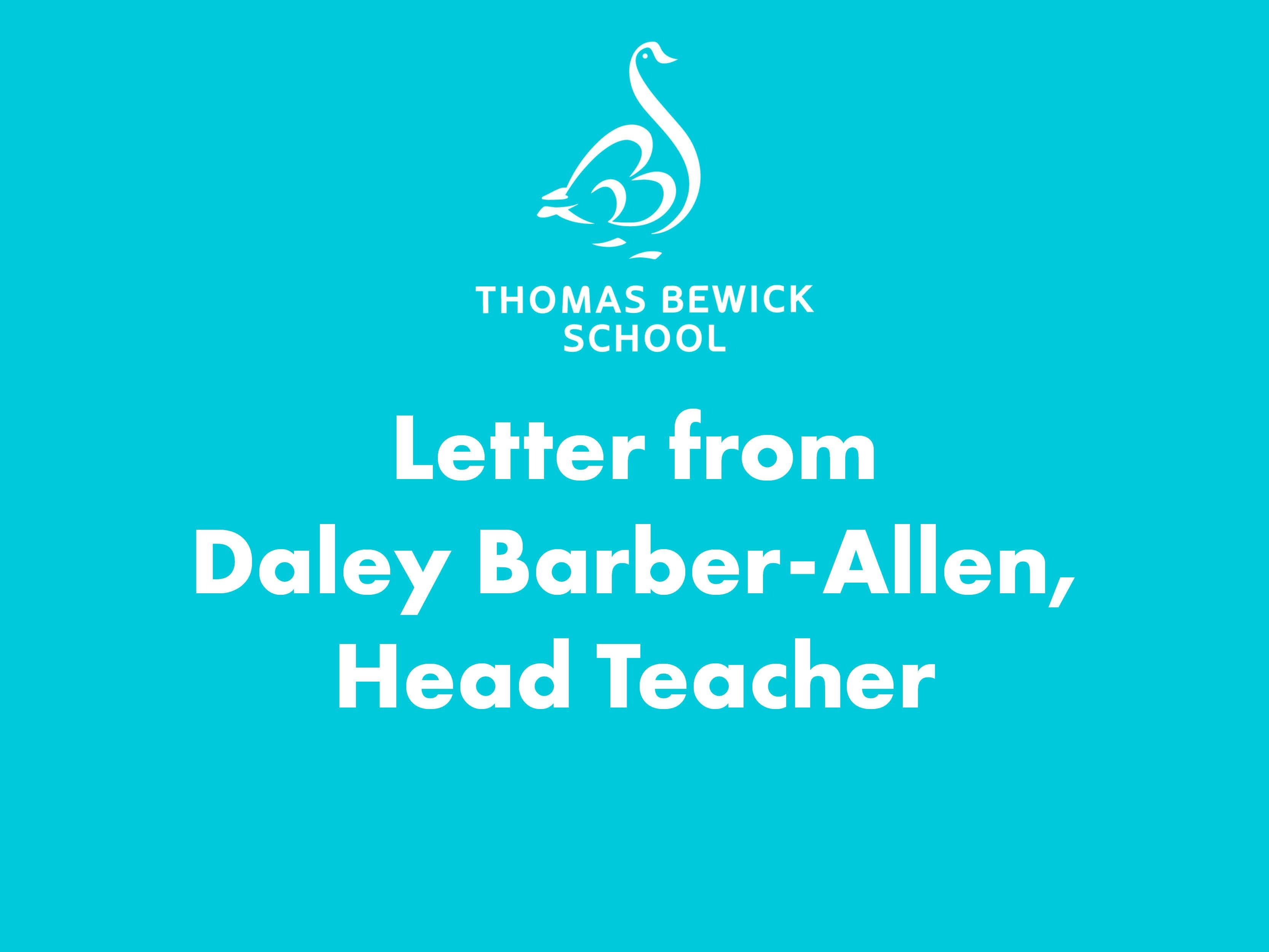 Message from Daley Barber-Allen