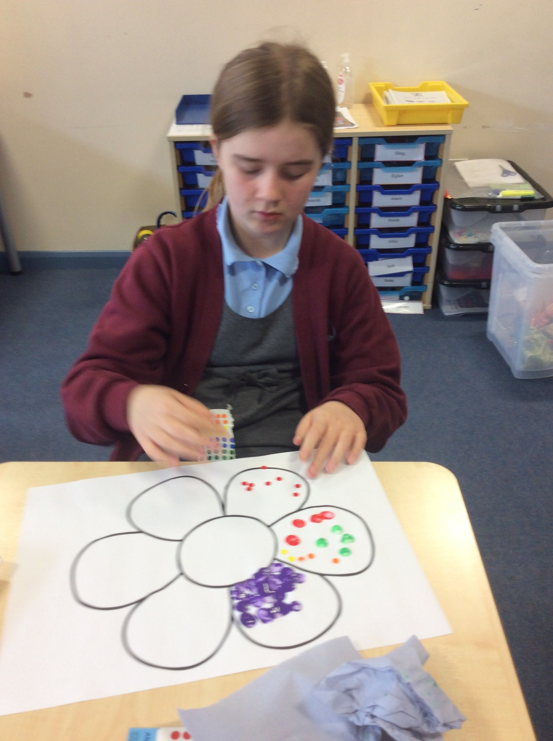 Yayoi Kusama inspired dot paintings