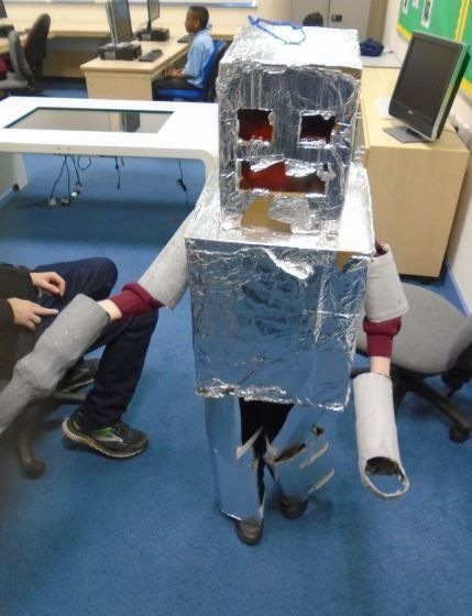 Class 17 Built and Dressed Up as a Robot!