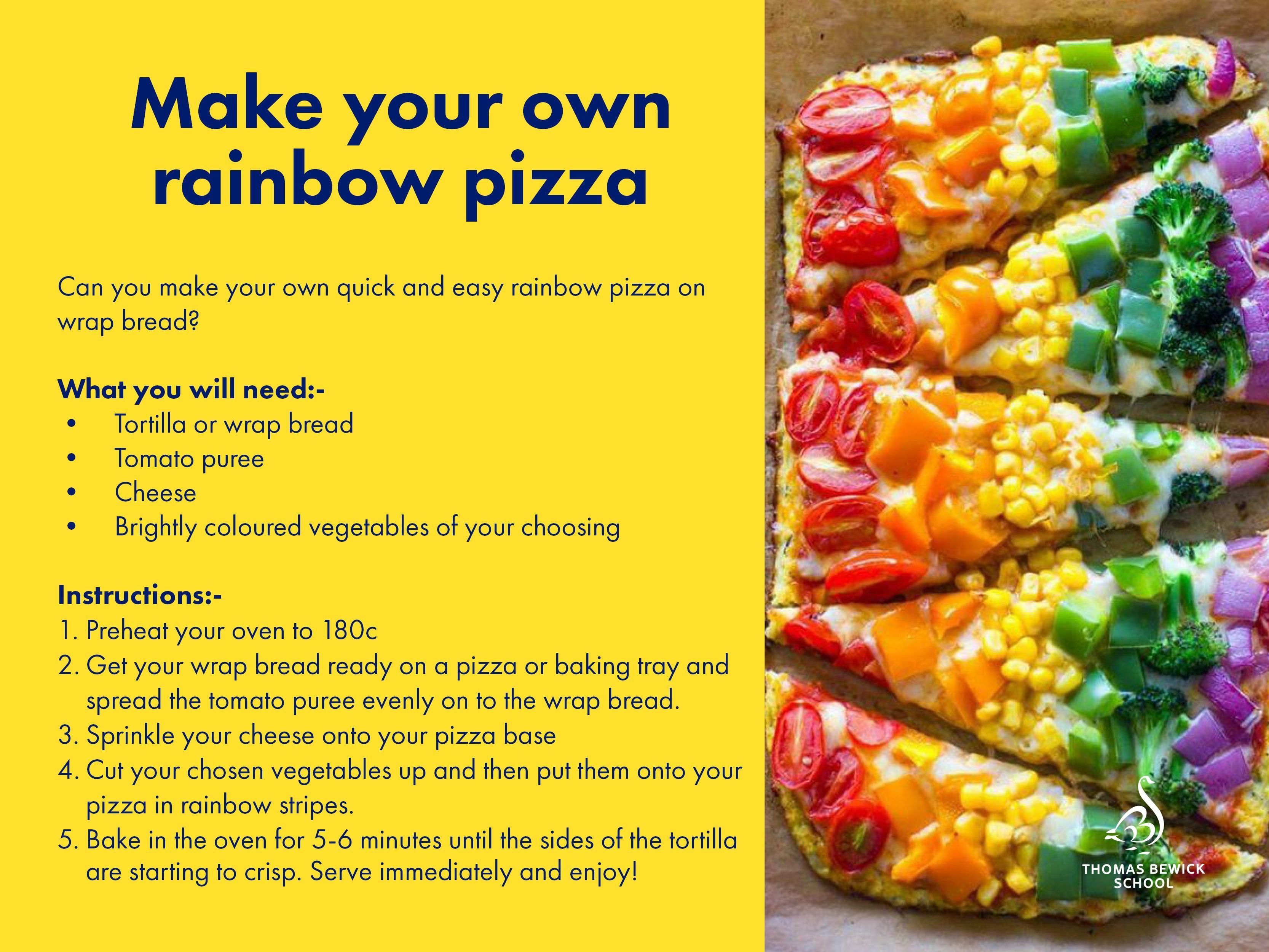 Make Your Own Rainbow Pizza