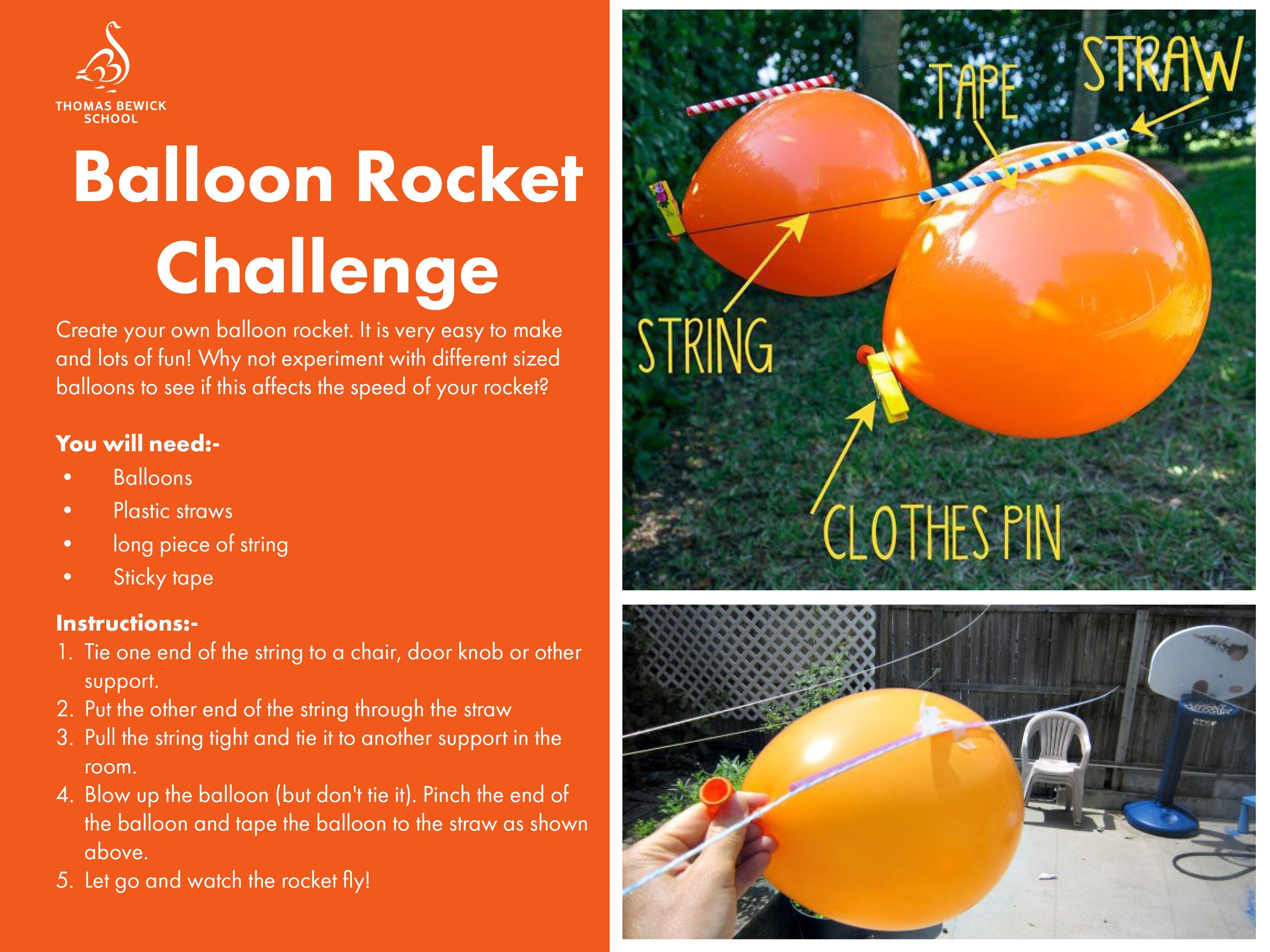 Balloon Rocket Challenge