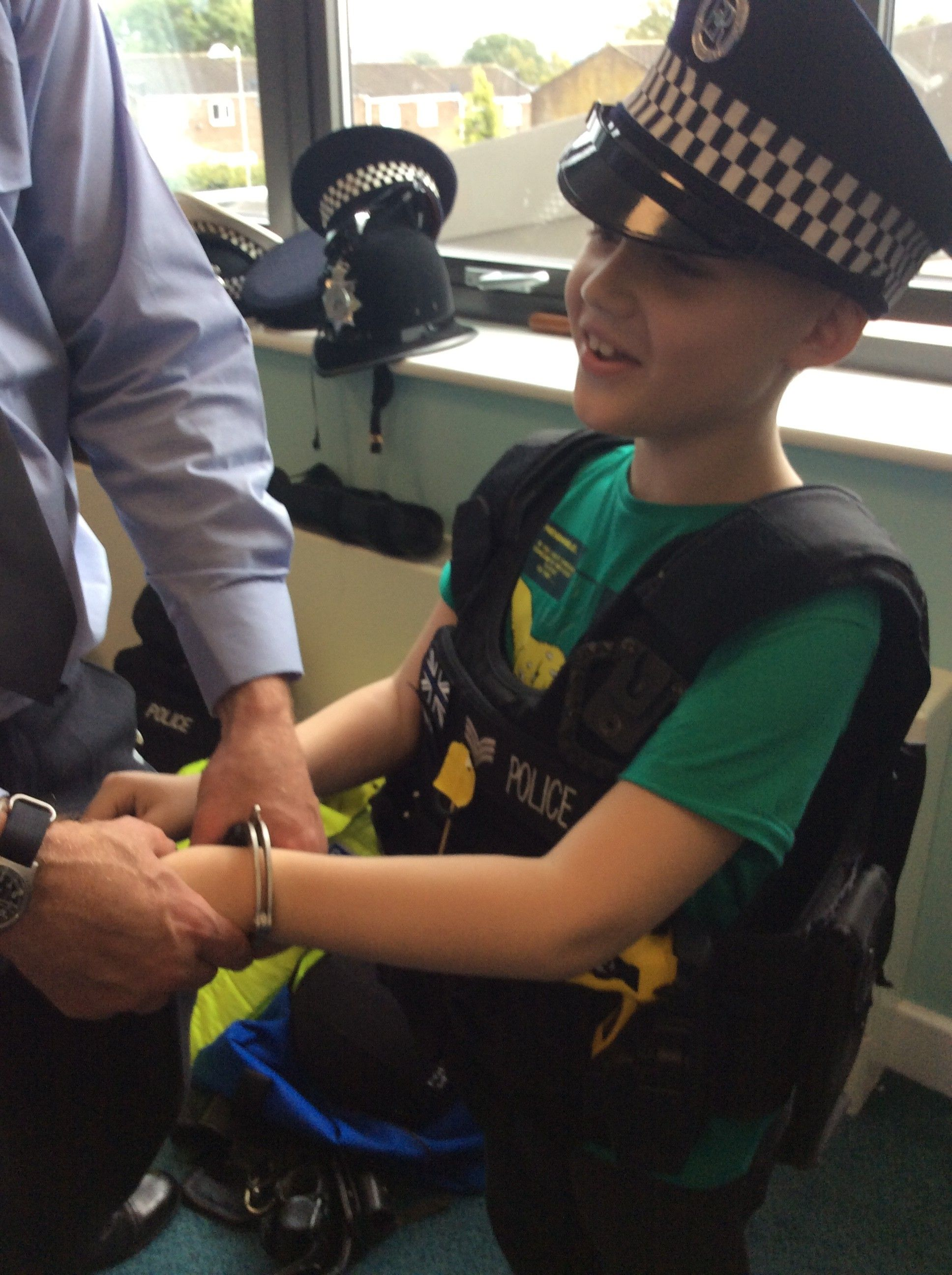 Police Officer Visits Thomas Bewick